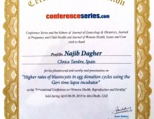 Speaker at the International Conference on Women's Health, Reproduction and Fertility